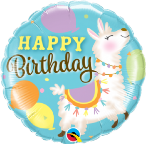 Birthday Llama Foil Balloon | Free Delivery available